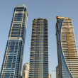 Stock Photo: Skyscrapers at the Sheikh Zayed Road in Dubai