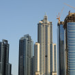 Skyscrapers at the Sheikh Zayed Road in Dubai — Stock Photo