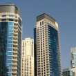 Modern highrise buildings in Dubai Marina - Stock Photo