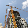 Highrise buildings construction in Dubai — Stock Photo