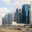 Construction at the Sheikh Zayed Road in Dubai - Stock Photo