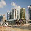 Construction at Sheikh Zayed Road in Dubai — Stock Photo