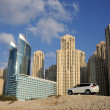 Stock Photo: Highrise buildings in Dubai