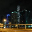 Sheikh Zayed Road in Dubai at night — Stock Photo
