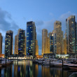 Dubai Marina at night, United Arab Emirates — Stock Photo