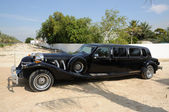 Black Retro Limousine Car — Stock Photo