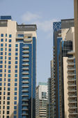 Highrise buildings in Dubai Marina — Stock Photo