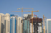Construction site in the city of Dubai — Stock Photo