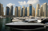 Yachts at Dubai Marina — Foto Stock