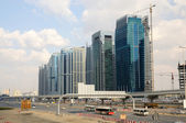 Construction at the Sheikh Zayed Road in Dubai — Stock Photo