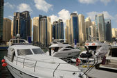 Yachts at Dubai Marina, United Arab Emirates — Stock Photo