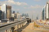 Metro Construction at Sheikh Zayed Road in Dubai. — Stock Photo