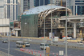 Metro Construction at Sheikh Zayed Road in Dubai. — Foto de Stock