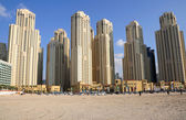 Highrise buildings in Dubai, United Arab Emirates — Stock Photo
