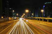 Sheikh Zayed Road in Dubai at night — Стоковое фото