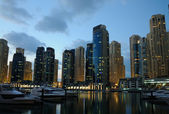 Dubai Marina at dusk, United Arab Emirates — Foto Stock