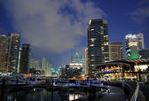 Dubai Marina at night, United Arab Emirates — Foto Stock