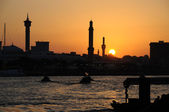 Sunset at Dubai Creek, United Arab Emirates — Stok fotoğraf