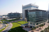 Dubai Financial District. Gate Building housing the DIFC the international — Stock Photo