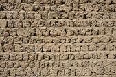 Old adobe wall in Dubai, United Arab Emirates — Stock Photo