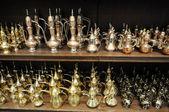 Traditional Arabic Teapots for sale in Dubai, United Arab Emirates — Stock Photo