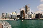 Marina de dubai, nos emirados árabes unidos — Foto Stock