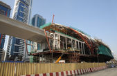 Metro Construction at the Sheikh Zayed Road in Dubai — Stock Photo