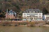Houses at Neckar riverbank in Heidelberg, Germany — Stock Photo