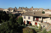 View over the old town of Carcassonne, France — Stockfoto