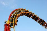 Roller coaster ride at a theme park — Stock Photo