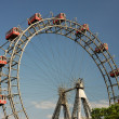 The Prater - giant old ferris wheel in Vienna Austria. — Stock Photo