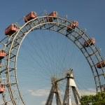 The Prater - giant old ferris wheel in Vienna Austria. — Stock Photo #7731601