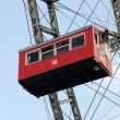 Red Cabin of Prater - giant old ferris wheel in Vienna Austria. — Stock Photo #7731630