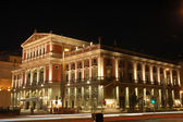 The Musikverein at Night in Vienna, Austria — Stock Photo