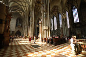 Inside of St. Stephen's Cathedral in Vienna, Austria — 图库照片