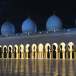 Sheikh Zayed Mosque at night. Abu Dhabi, United Arab Emirates - 图库照片