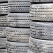 Stock Photo: New Tires in Storage