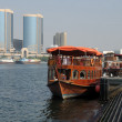 Stock Photo: Traditional Dhow at Dubai Creek, United Arab Emirates