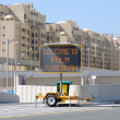 Стоковое фото: Welcome to Palm Jumeirah sign, Dubai United Arab Emirates