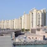 byggnader på palm jumeirah, dubai — Stockfoto