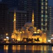 Stock Photo: Al Noor Mosque in Sharjah City at night