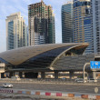 Metro Station in Sheikh Zayed Road, Dubai — Stock Photo