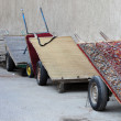 Stock Photo: Pushcarts parking at Old Souq in Dubai, United Arab Emirates