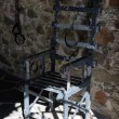 Torture chair in old German castle — Stock Photo