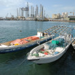 Foto Stock: Boats at Sharjah Creek