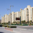 Apartment buildings at Palm Jumeirah, Dubai — Stock Photo