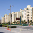 Apartment buildings at Palm Jumeirah, Dubai — Foto de Stock