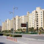жилых зданий на острове Пальма Джумейра, Дубай — Стоковое фото