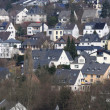 Hillside houses in German town Siegen — Stock Photo