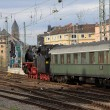 Steam train at the main station in Koblenz, Germany — Stock Photo